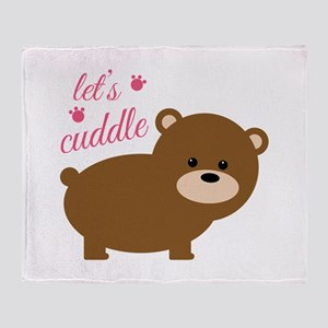Lets Cuddle Throw Blanket