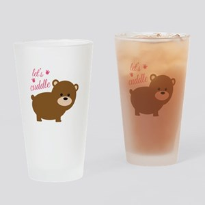 Lets Cuddle Drinking Glass