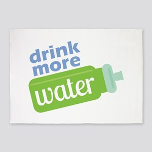 Drink More Water 5'x7'Area Rug