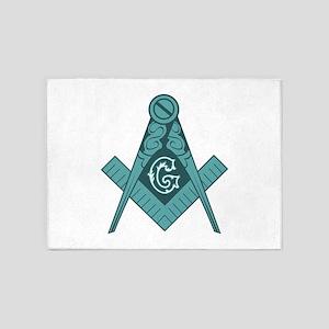 Freemason Square & Compass 5'x7'Area Rug