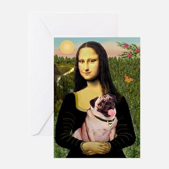 Mona's Fawn Pug (#2) Greeting Card