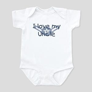 E2 USAF I love my uncle blue Infant Bodysuit