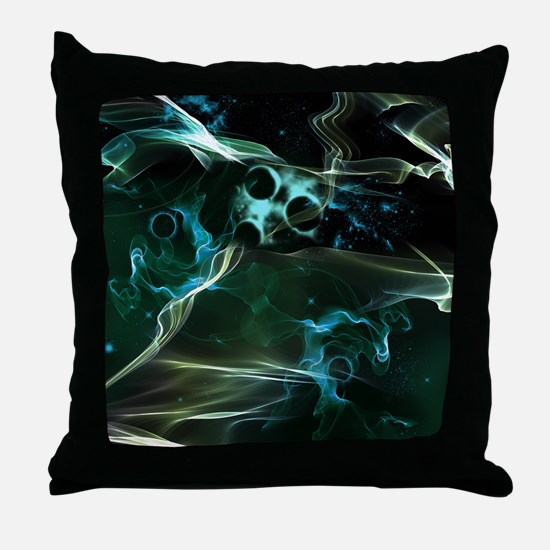 The galaxy in flame Throw Pillow