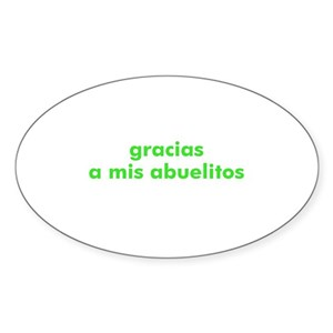 Mis Abuelos Oval Stickers