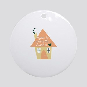 Where Heart Is Ornament (Round)