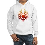 Flaming Skull tattoo Hooded Sweatshirt
