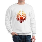 Flaming Skull tattoo Sweatshirt