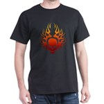 Flaming Skull tattoo Dark T-Shirt