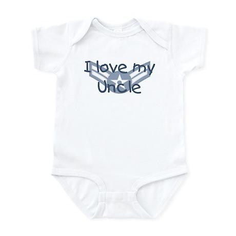 E3 USAF I love my uncle blue Infant Bodysuit
