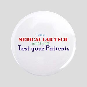 I Am A Lab Tech Button