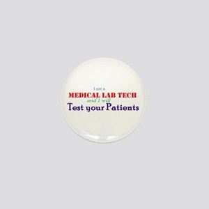 I Am A Lab Tech Mini Button