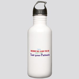 I am a Lab Tech Water Bottle