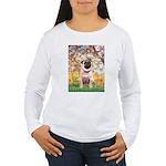 Spring / Pug Women's Long Sleeve T-Shirt