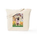 Spring / Pug Tote Bag
