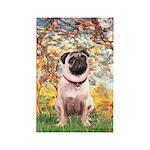 Spring / Pug Rectangle Magnet (10 pack)