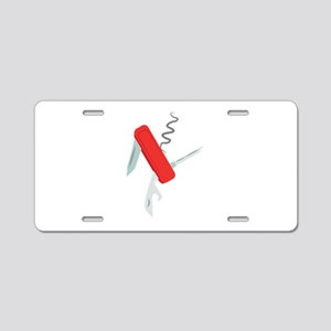 Pocket Knife Aluminum License Plate