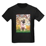 Spring / Pug Kids Dark T-Shirt
