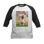 Spring / Pug Kids Baseball Jersey