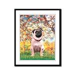 Spring / Pug Framed Panel Print