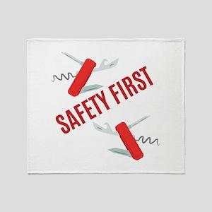 Safety First Throw Blanket