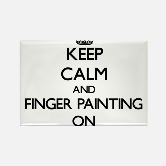 Keep Calm and Finger Painting ON Magnets