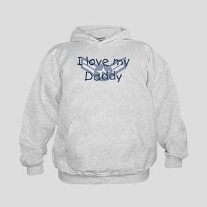 E3 USAF I love my daddy blue Kids Hoodie