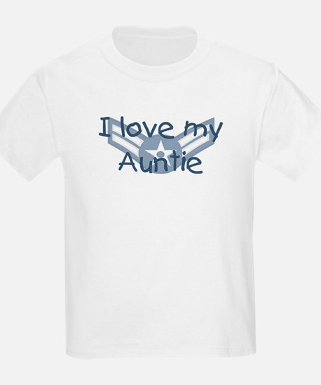 E3 USAF I love my auntie blue T-Shirt