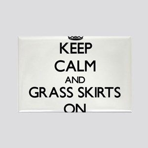 Keep Calm and Grass Skirts ON Magnets