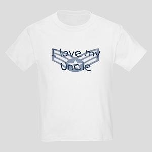 E4 USAF I love my uncle blue Kids Light T-Shirt