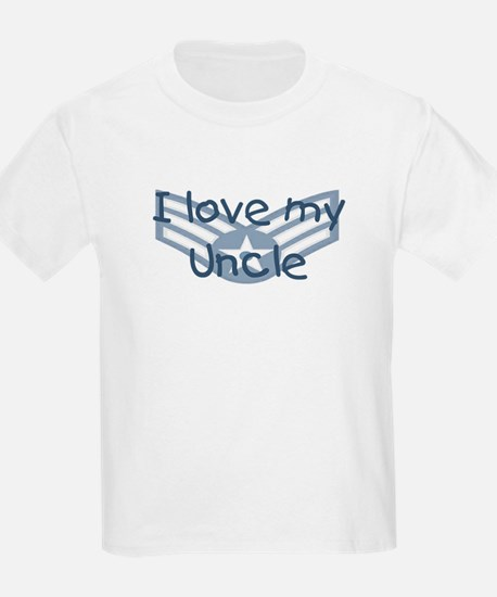 E4 USAF I love my uncle blue T-Shirt