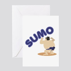 Sumo Wrestler Sumo Greeting Cards