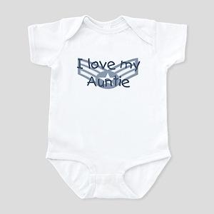 E4 USAF I love my auntie blue Infant Bodysuit
