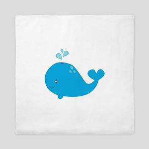 Blue Whale Queen Duvet