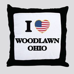 I love Woodlawn Ohio Throw Pillow