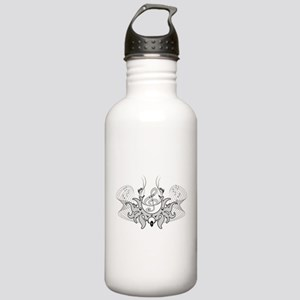 Decorative Clef in black and white Water Bottle