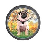 Spring / Pug Wall Clock