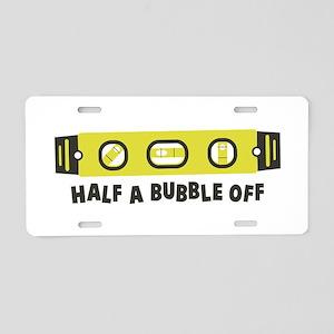 Half A Bubble Off Aluminum License Plate