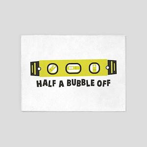 Half A Bubble Off 5'x7'Area Rug