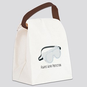 Always Wear Protection Canvas Lunch Bag