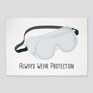 Always Wear Protection 5'x7'Area Rug