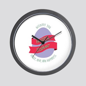 Peace Love Happiness Wall Clock