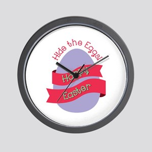 Hide The Eggs Wall Clock