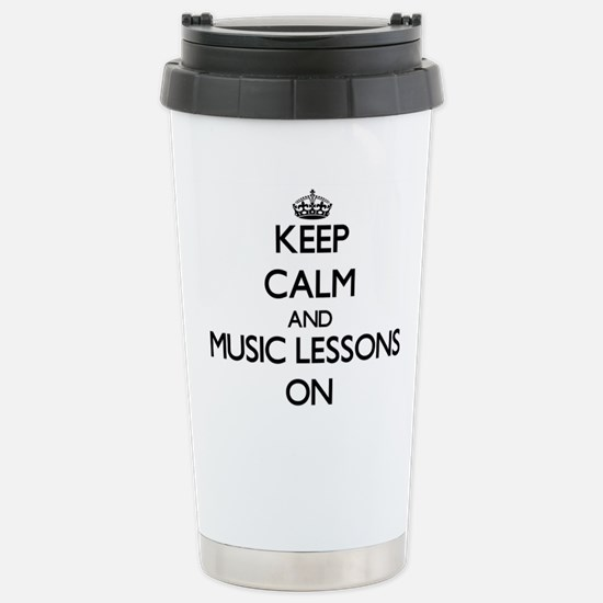 Keep Calm and Music Les Stainless Steel Travel Mug
