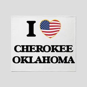 I love Cherokee Oklahoma Throw Blanket