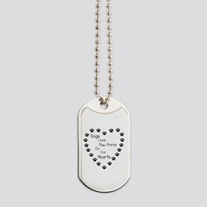 Dogs Leave Paw Prints 10 x 10 Dog Tags