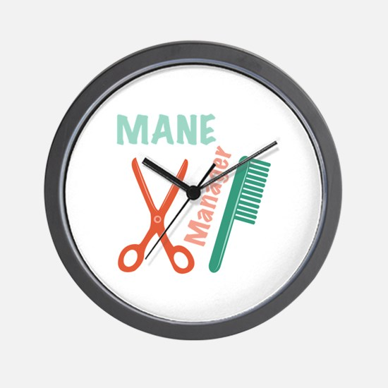 Mane Manager Wall Clock
