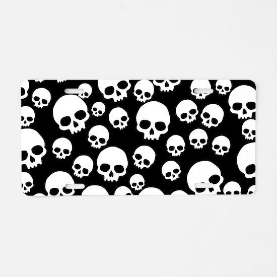 Unique Skulls Aluminum License Plate