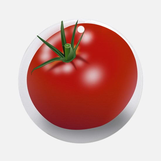 Red tomato Ornament (Round)