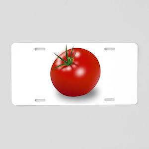 Red tomato Aluminum License Plate