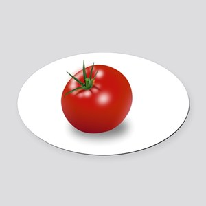 Red tomato Oval Car Magnet